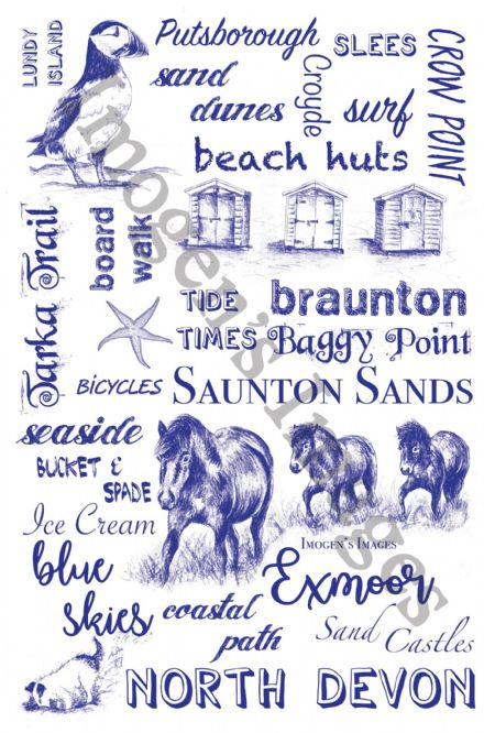 North Devon Tea Towel (Words)